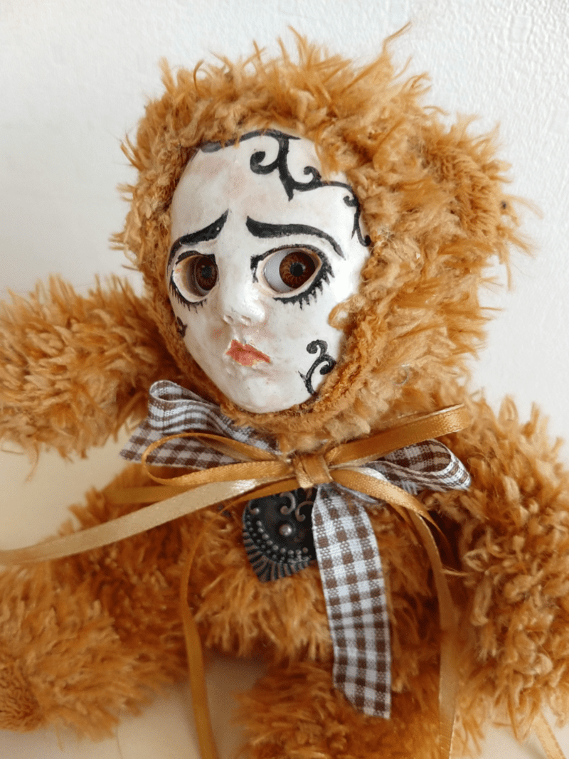 Olja the bear doll by ursula aavasalu tigukass