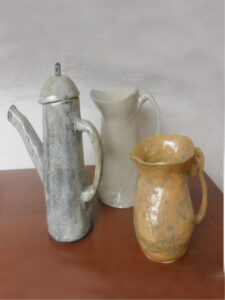 three ceramic jugs- tigukass workshop
