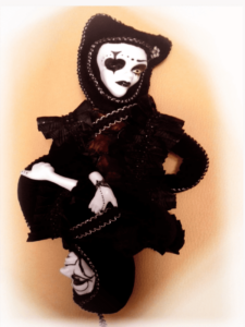 queen of spades double-sided doll by mai aavasalu tigukass