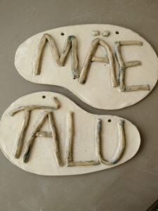 ceramic farm name sign- tigukass workshop