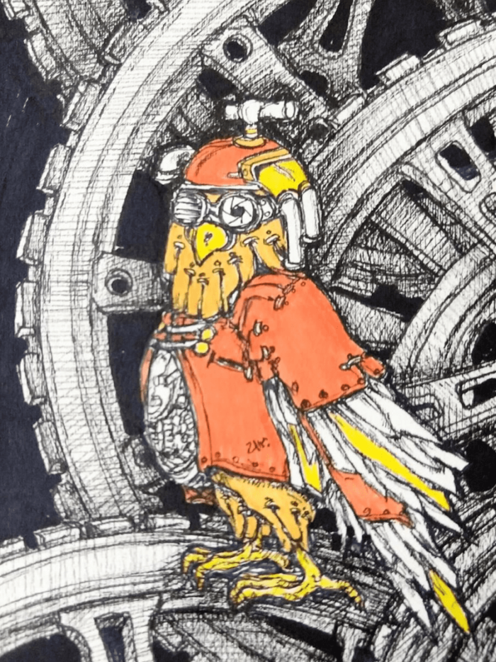 steampunkowl by ursula aavasalu tigukass