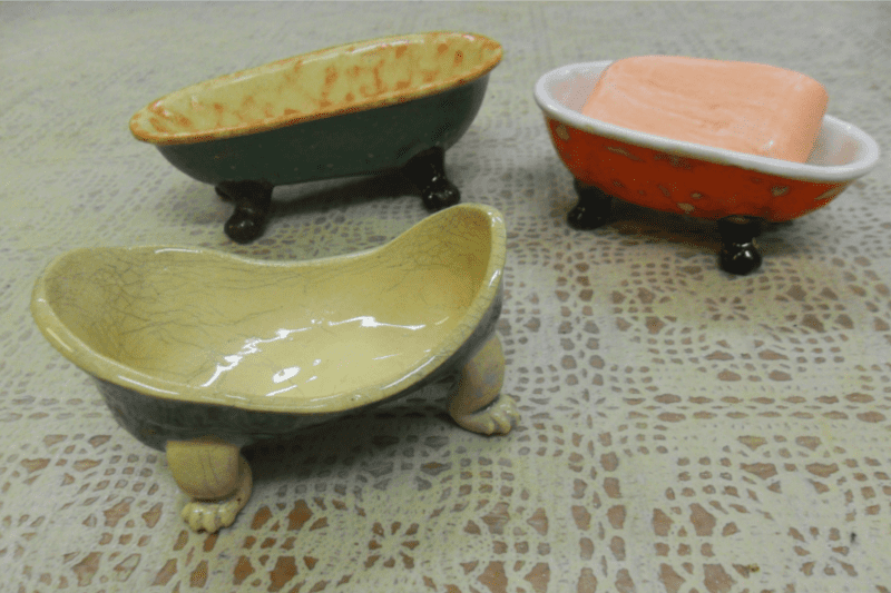 three soap dishes by ursula aavasalu tigukass