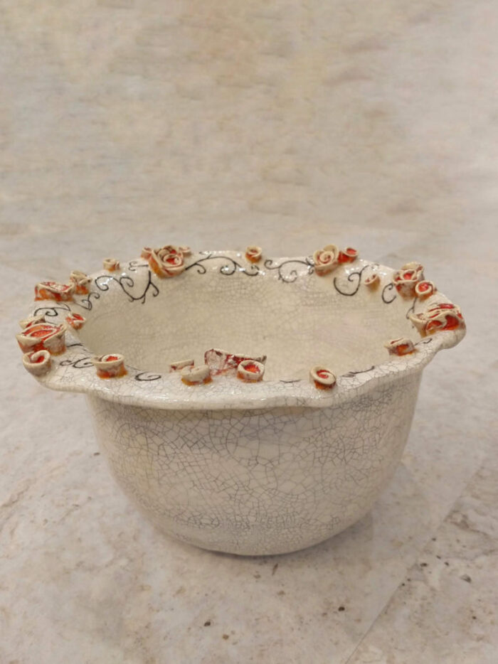 bowl with roses by ursula aavasalu tigukass