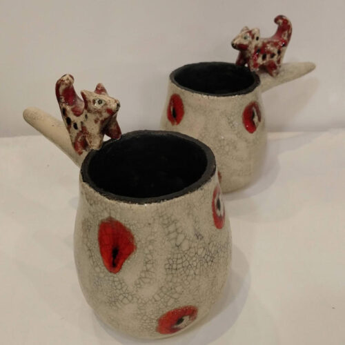 two fox cups by ursula aavasalu tigukass