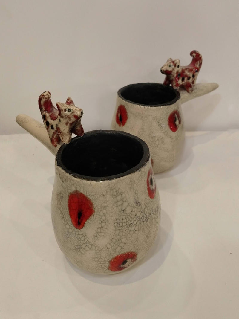two fox cups  by ursula aavasalu tigukass