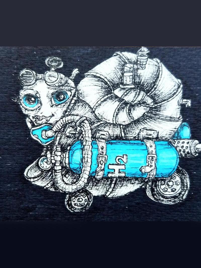 helium powered steampunk snail by ursula aavasalu tigukass