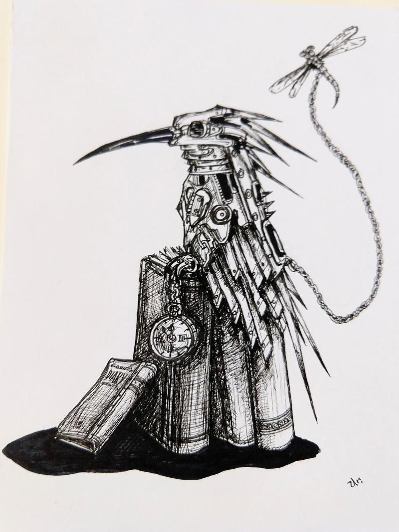 librarian kingfisher by ursula aavasalu tigukass