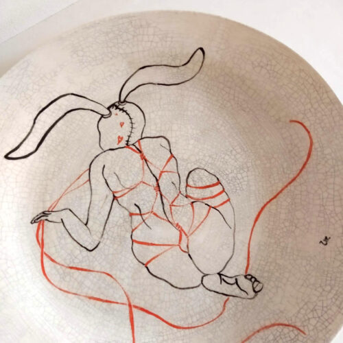 rabbit woman with strings plate 2 by ursula aavasalu tigukass