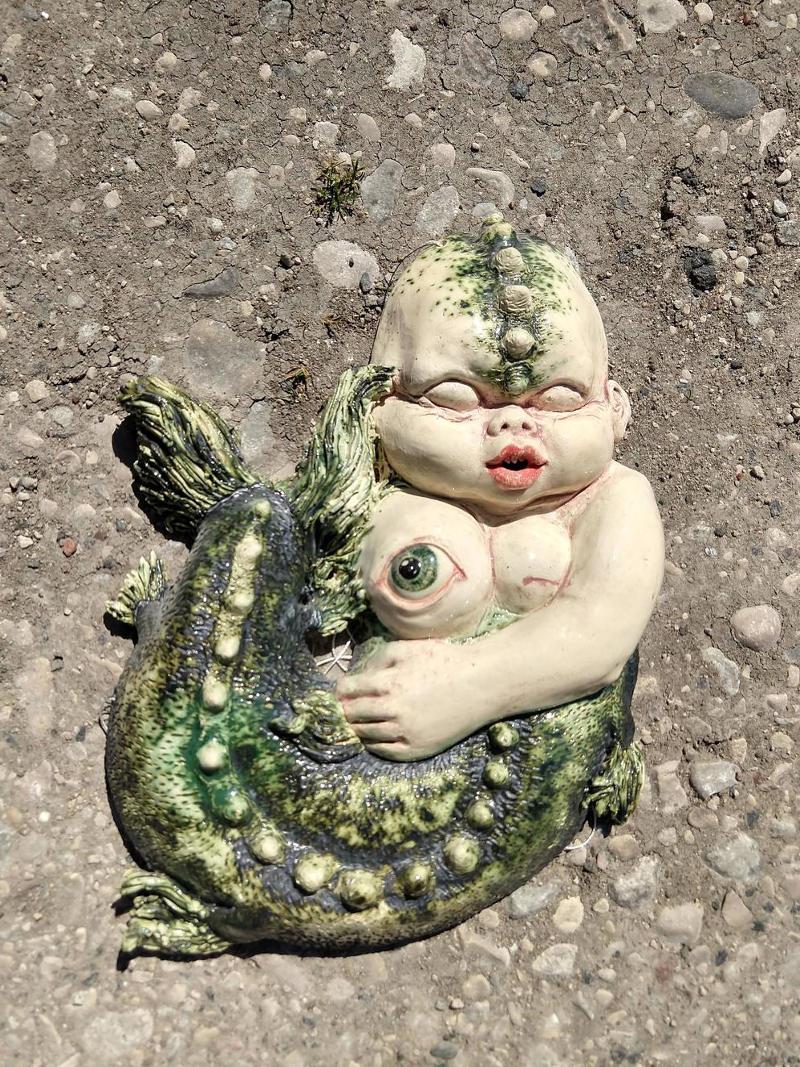 sleeping mermaid by ursula aavasalu tigukass