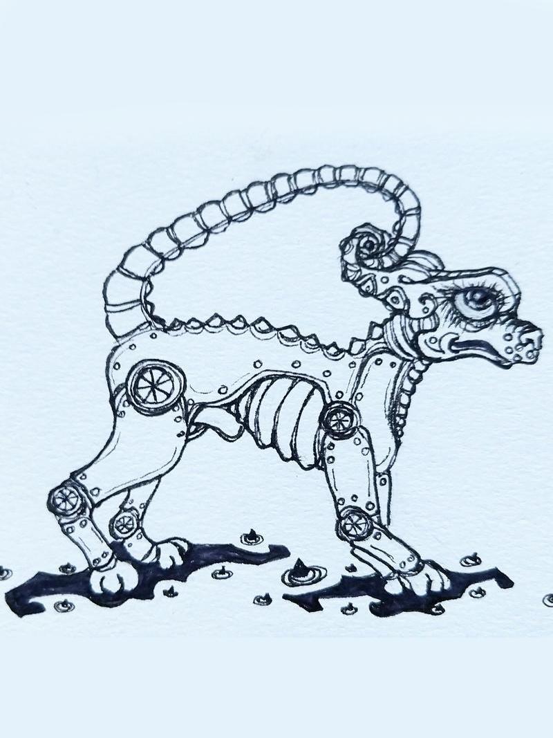 steampunkdoggo by ursula aavasalu tigukass