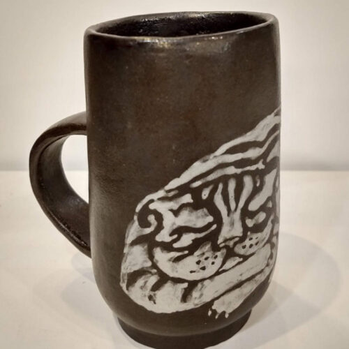striped cat mug by mai aavasalu tigukass