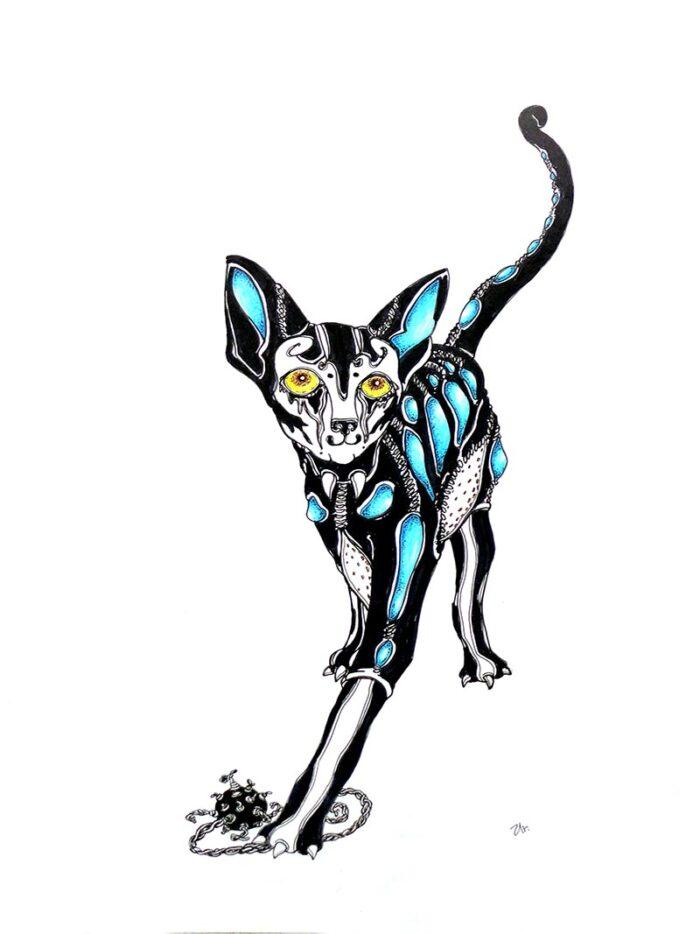 black cat by ursula aavasalu tigukass