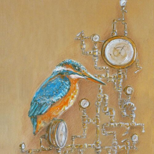 kingfisher with gauges by ursula aavasalu tigukass