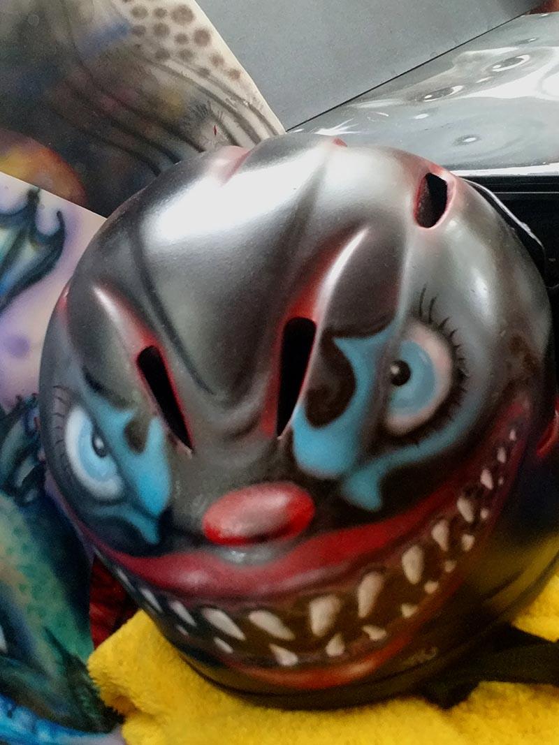 evil clown helmet by ursula aavasalu tigukass