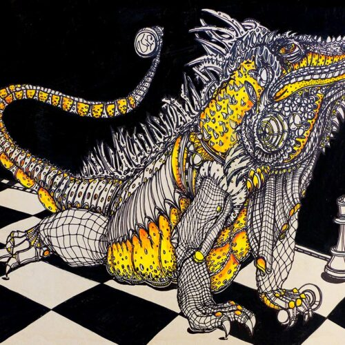iguana by ursula aavasalu tigukass