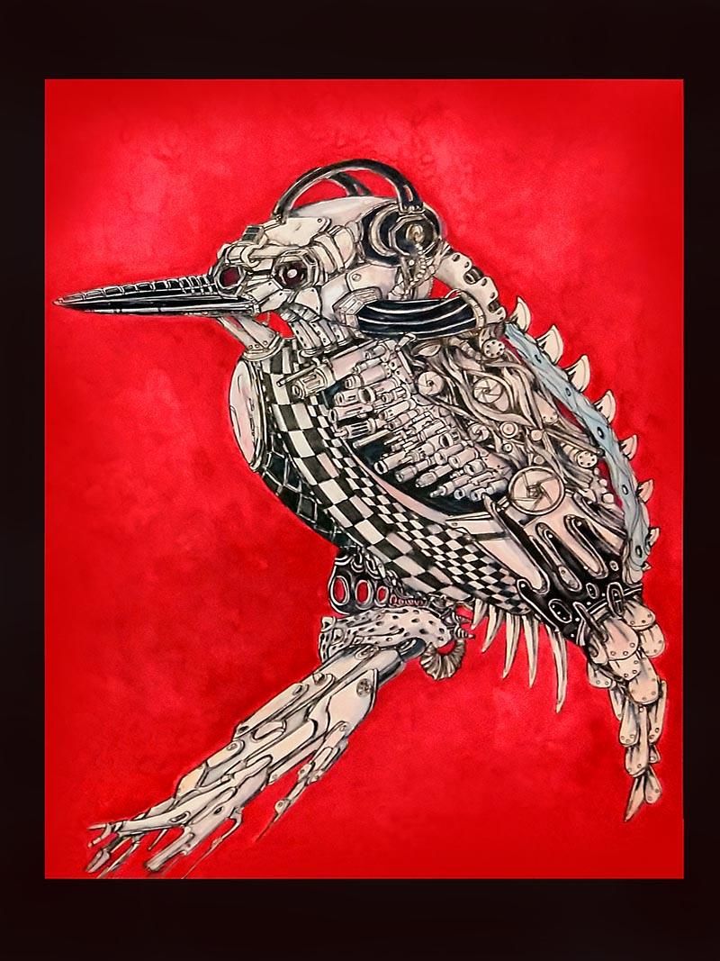 kingfisher on arms by ursula aavasalu tigukass