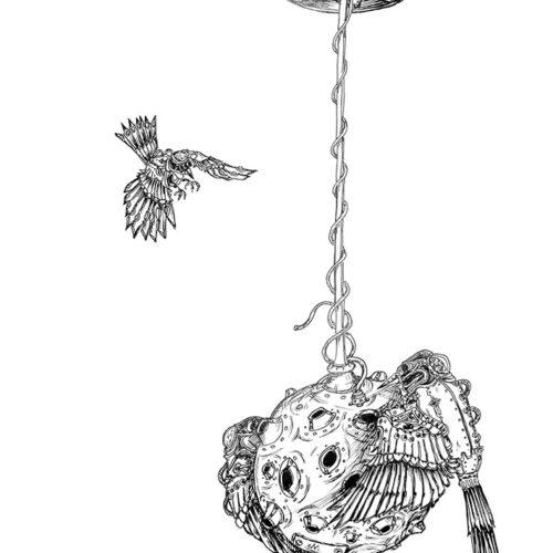 bird feeder drone by ursula aavasalu tigukass