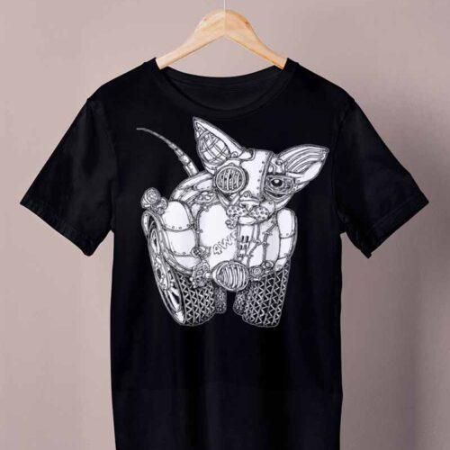 black 4wd cat shirt by ursula aavasalu tigukass