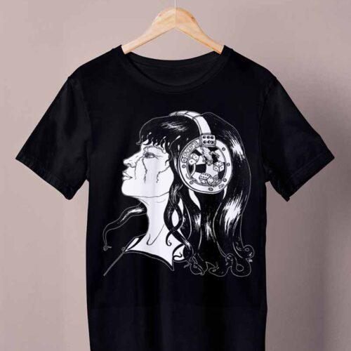 black negative sound shirt by ursula aavasalu tigukass
