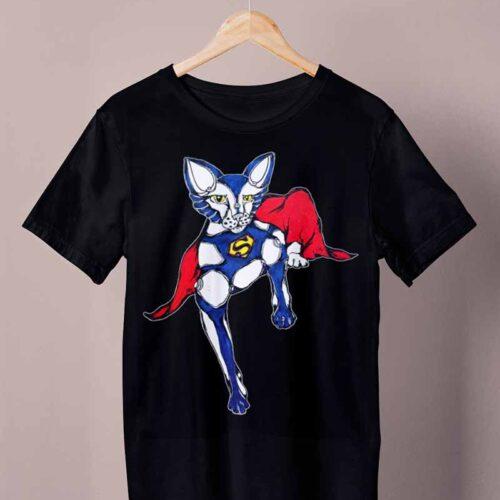 black supercat shirt by ursula aavasalu tigukass