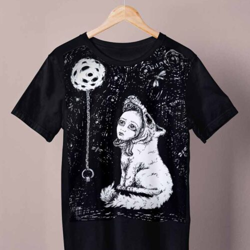 black wolfskin shirt by ursula aavasalu tigukass