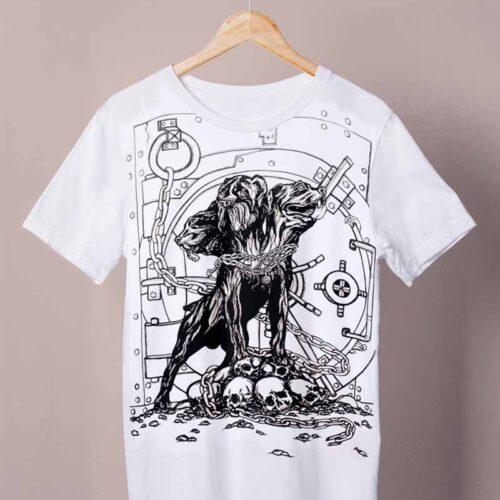 white cerberus shirt by ursula aavasalu tigukass