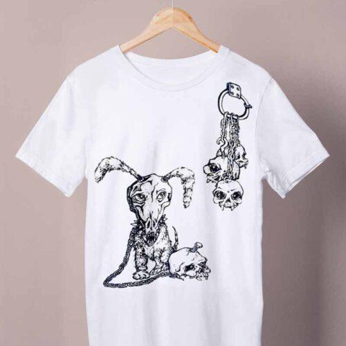 white watchdog shirt by ursula aavasalu tigu
