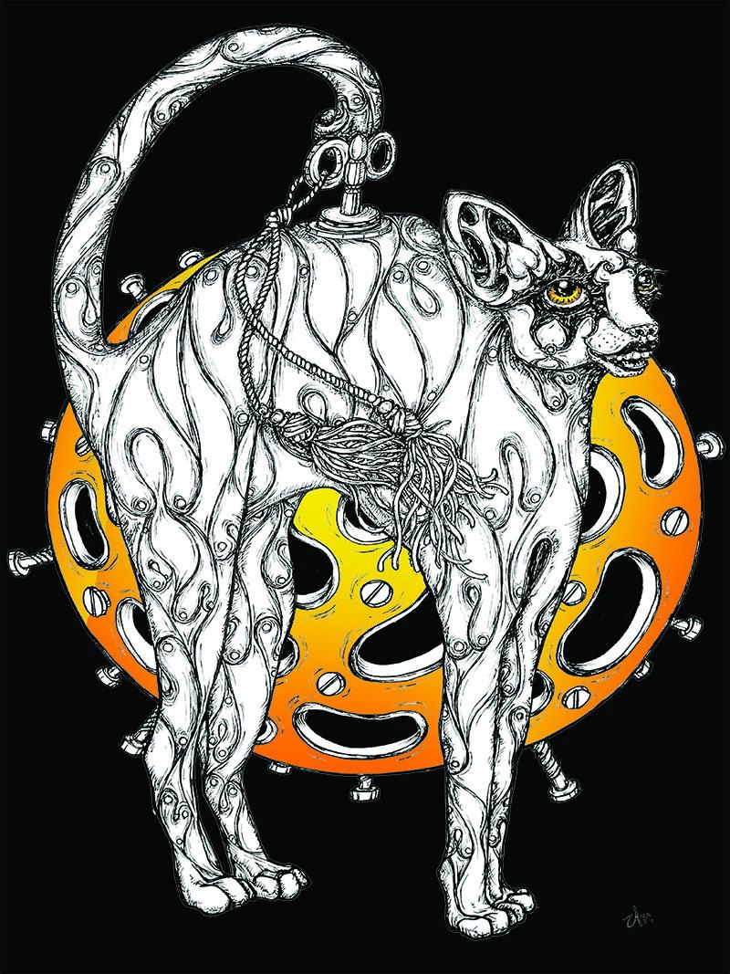 orange moon cat by ursula aavasalu tigukass